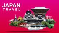 Bannière de voyage au Japon