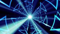 Animação 3d de túnel futurista de loop sem costura