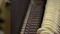 À l'intérieur d'un piano