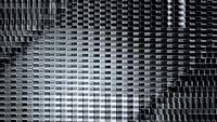 Bucle de estructuras futuristas en movimiento