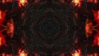 Dark Metallic Texture And Flames