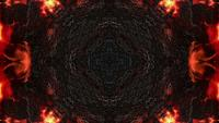 Chamas e textura metálica escura