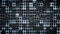 Bucle de fondo de cuadrados futuristas