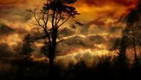 Stürmischer Fantasy-Hintergrund