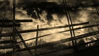 Composición de paisajes de campo tormentoso