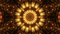 Boucle de fond de kaléidoscope doré