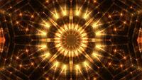 Gyllene kalejdoskopbakgrundsslinga