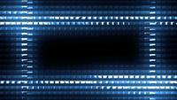 Flackernde blaue Lichter auf futuristischem Design