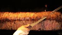 Doner de carne tradicional turca