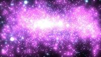 Purpurfärgade ljuspartiklar i ett Galaxy-koncept