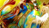 Abstrakte bunte Farbtinte explodieren