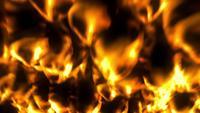 Feu brûlant doré de lave brûlante
