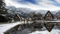Vintern i Shirakawago, Japan.