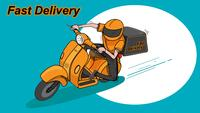 Fast Delivery by Scooter