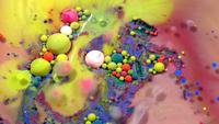 Colorful Abstract Ink Paint Spheres