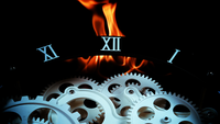 Retro Clock Gears and Fire