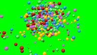 Animation Of A Pile Of Abstract Colorful Spheres