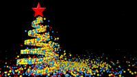 Animation eines Weihnachtsbaumes aus Kugeln