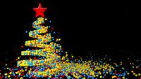 Animation of a Christmas Tree Made of Balls