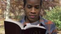 Young Christian Man Reading the Bible Faith Concept