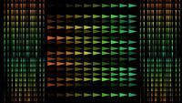 Färgglad blandad triangelmönster
