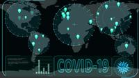 Covid 19 virus over the world