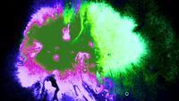 Taches d'encre néon colorées