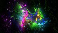Gloeiende kleurrijke Grunge-verf