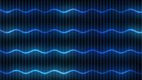 Ondas de luz azul digital