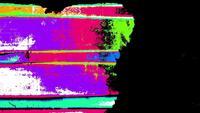 Transições de Grunge piscando coloridas