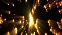 Fond de lumières dorées rougeoyantes