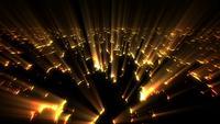 Glühendes Licht, das durch Risse strahlt