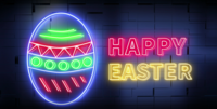 Easter egg neon light
