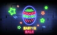 Easter Sale neon light