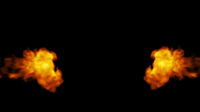 Fire Coming From The Sides On a Black Background