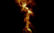 Brand lågor på en svart bakgrund