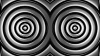 Bucle abstracto de círculos hipnóticos
