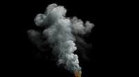 Klein vuur met veel rook