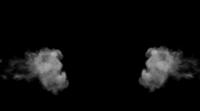 Fumo em um fundo preto