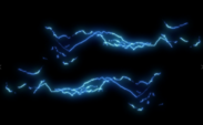 Blue Lightning Over a Black Background