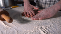 Making Turkish Traditional Food Lahmacun
