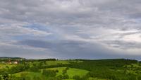 Landschaps Groen Gebied en Regenwolken