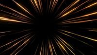 Abstrait de lignes dorées de vitesse de lumière.