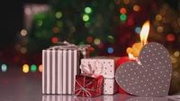 Cajas de regalo y velas