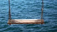 Schaukel und Meer