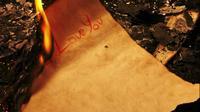 Je t'aime écrit sur un papier vintage et brûle