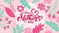 Happy Mother's Day kalligrafie tekst
