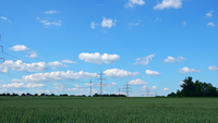 Landscapes Electric Poles and Clouds