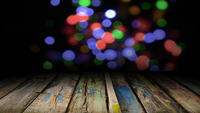Wooden Stage and Bokeh