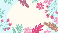 Flat Floral Animation with Copyspace
